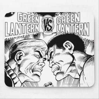 Green Lantern vs Green Lantern, Black and White Mouse Pad