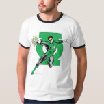 Green Lantern with Logo Background Tees