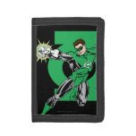 Green Lantern with Logo Background Trifold Wallet