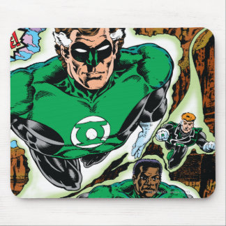 Green Lanterns Flying Mouse Pad