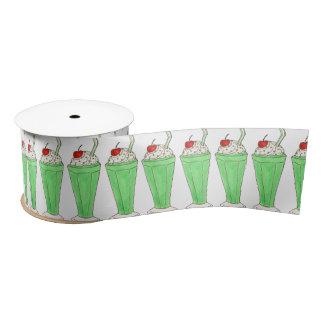 Green Shake Milkshake St. Patrick's Day Ribbon Satin Ribbon