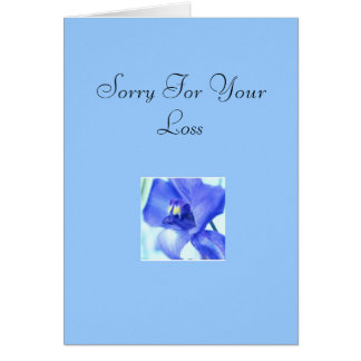 GREETING CARD(SORRY FOR YOUR LOSS) GREETING CARD