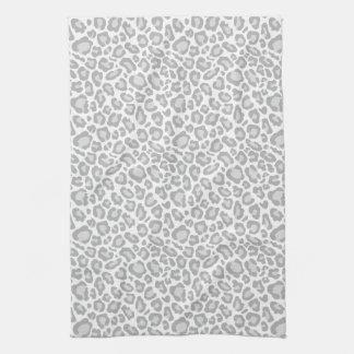 Grey Leopard Print Kitchen Towel