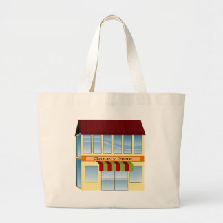 Grocery Store Building Icon Jumbo Tote Bag