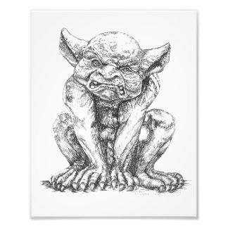 Grumpy Gargoyle Photo Print