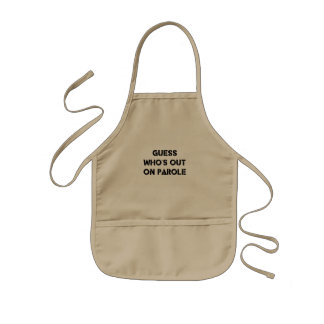 Guess Who's Out On Parole Kids Apron
