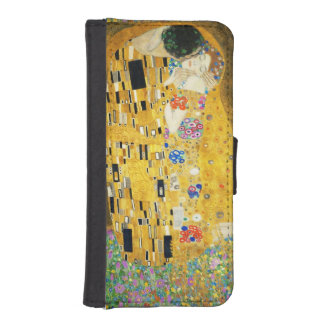 Gustav Klimt The Kiss Vintage Art Nouveau Painting Phone Wallet