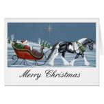 Gypsy Vanner Horse Merry Christmas Greeting Card
