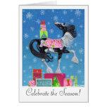Gypsy Vanner Whimsical Christmas Card