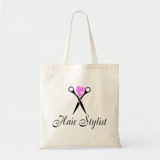 Hair Stylist (Scissors/Pink) Budget Tote Bag