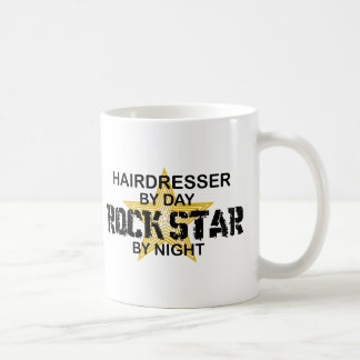 Hairdresser Rock Star by Night Classic White Coffee Mug