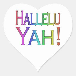 Hallelu Yah! (rainbow) Heart Sticker