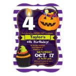 "Halloween Theme Kids Birthday Costume Party 5"" X 7"" Invitation Card"