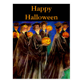 Halloween Witch College Graduates Postcard