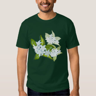 Hand drawn Jasmine flowers T-shirts