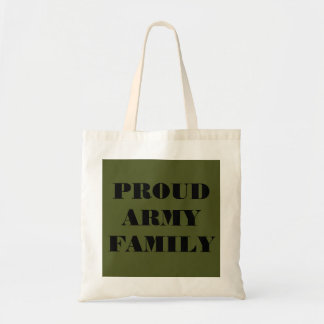 Handbag Proud Army Family Budget Tote Bag
