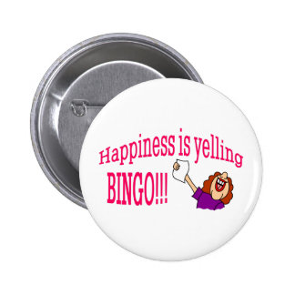 Happiness Bingo 2 Inch Round Button