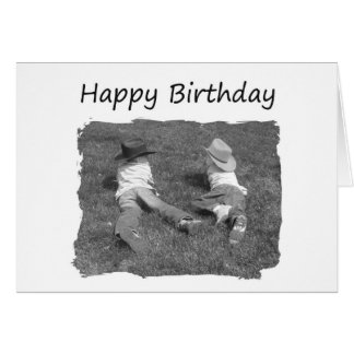 Happy Birthday Brother - Cowboys Greeting Card