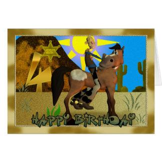 Happy Birthday Cowboy card 4th birthday