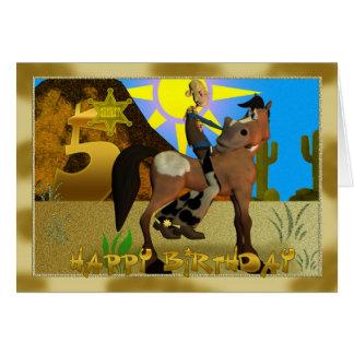 Happy Birthday Cowboy card 5