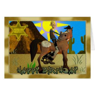 Happy Birthday Cowboy card for Children
