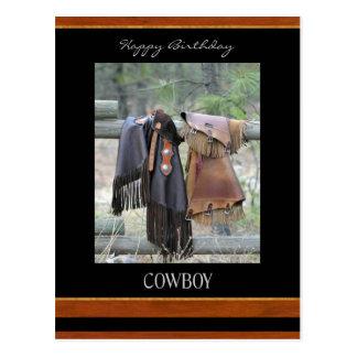 Happy Birthday Cowboy Postcard