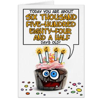 Happy Birthday Cupcake - 18 years old Greeting Card