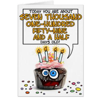 Happy Birthday Cupcake - 19 years old Greeting Card