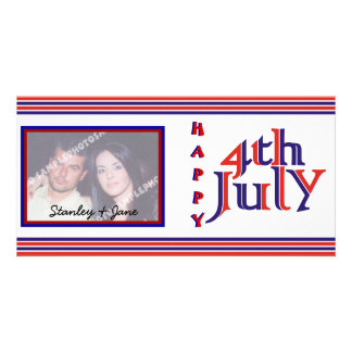 Happy Fourth 4th of July photo card