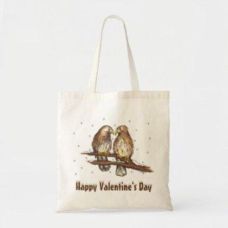 Happy Valentines Day Winter Lovebird Love Bird Bag