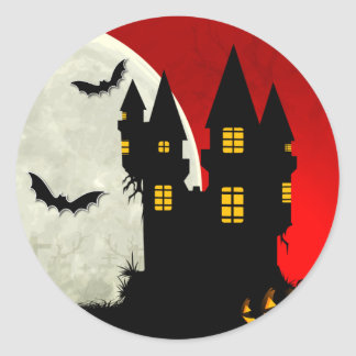Haunted Castle Halloween Envelope Seal Stickers