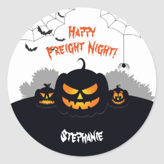 Haunted Pumpkin Patch Round Sticker