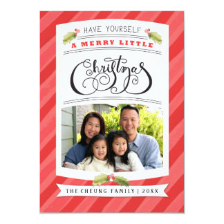 """Have Yourself A Merry Little Christmas Photo Cards 5"""" X 7"""" Invitation Card"""