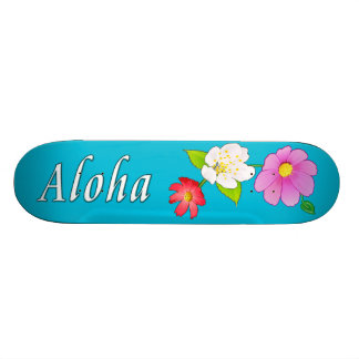 Hawaii Skateboard Floral Aloha Skateboards