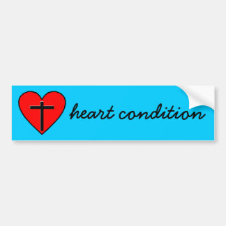 heart condition bumper sticker