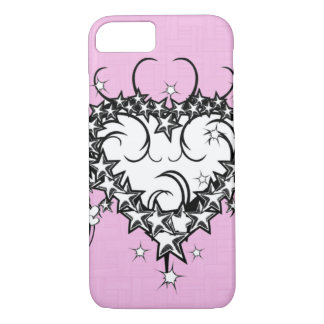 Heart on pink Tattooed iPhone 7 Case
