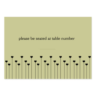 Heart Poppy Place Card Large Business Card