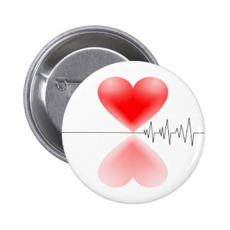 Heartbeat 2 Inch Round Button