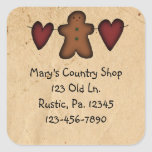 Hearts And Gingerbread Sticker