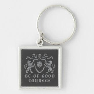 Heraldic Good Courage Keychain