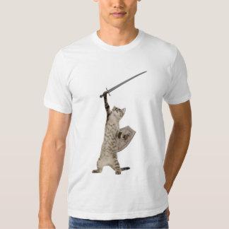Heroic Warrior Knight Cat Shirt