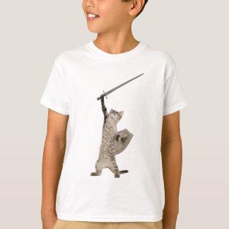 Heroic Warrior Knight Cat T Shirt