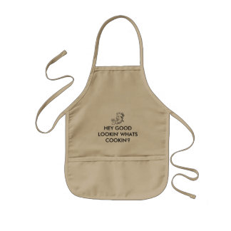 HEY GOOD LOOKIN' WHATS COOKIN'? KIDS APRON