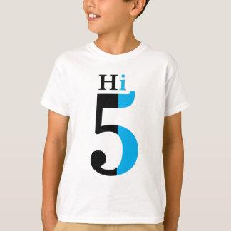 Hi 5 blue t-shirts