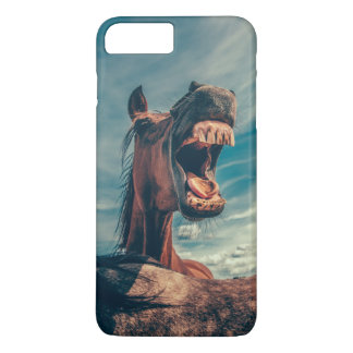 Hilarious Horse Smiling with Teeth and Tongue iPhone 7 Plus Case