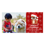 Hipster Holiday Fox Cute Animal Christmas Photo Cards