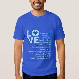 His Love Never Fails (Catholic Blue) Shirt