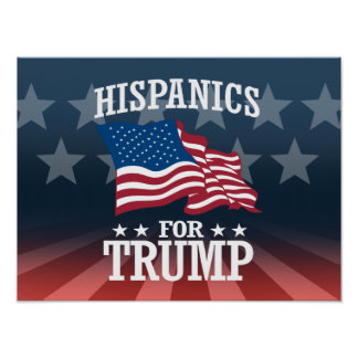 HISPANICS FOR TRUMP POSTER