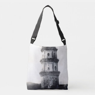 Historic Asian tower building Tote Bag