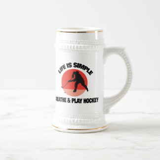 Hockey Life Is Simple 18 Oz Beer Stein